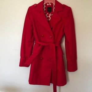 Red Belted Jacket- lighterweight The Limited